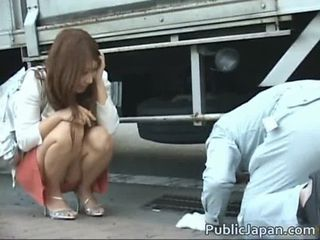Frustrated Japanese lady has a hairy