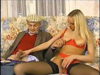 Cute Young Blonde Gets With This Older Guy And Sucks His Cock