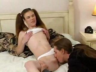 Sexy Melissa Ashley Is Wearing Pigtails When She Fucks This Guy