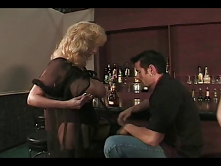 Busty Milf Gets Fucked In Black Stockings
