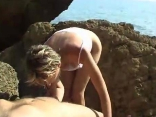 Mature Estelle Clark At The Beach