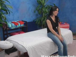 Busty Teen Fucks Massage Therapist