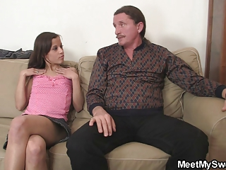 Naughty Girl Have Oral Fun With Her Bfs Parents