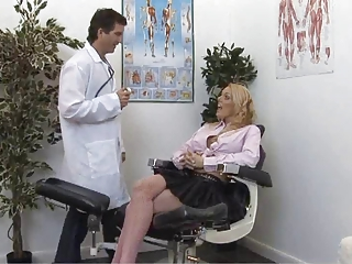 British Blonde Slut Gets Checked Out By The Doctor