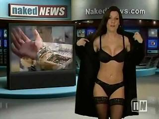 Sexy Anchor On The Naked News Strips Down While Reporting