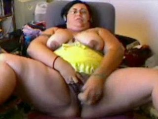 Bbw Latina Frantic Playing On Ca...