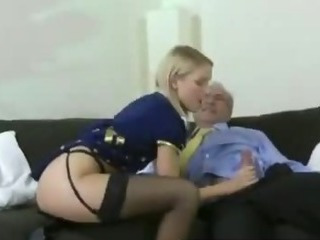 Promiscuous Blond Girl Fucks Old...
