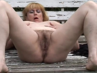 Chubby Mature With Hairy Cunt Ou...