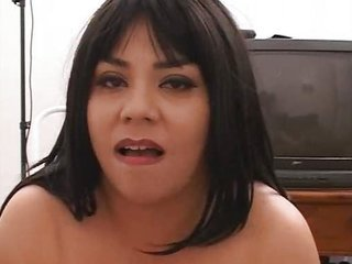 Dark Haired Busty Chick Give Hot Handjob