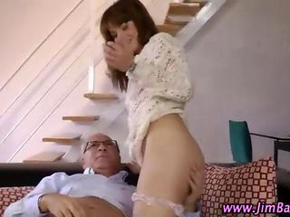 Stocking Teen Babe Fucking Old Guy