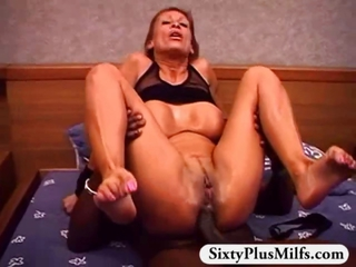 Horny Gilf Rose Fucked By Big Bl...