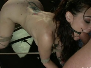 Girl Gets Tied Up And Fucked