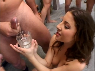 Karina Kay Drink Cum From A Glas...