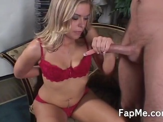 Sexy Blonde Touches And Wanks Th...