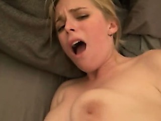Blonde Amateur Anal Riding My Di...