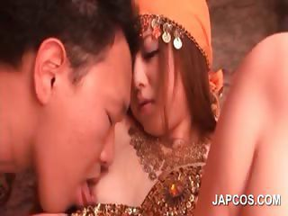 Asian Cutie Gets Pussy Teased Under Her Princess Dress