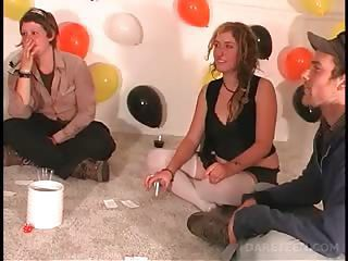 Party College Teens Play Truth Or Dare For Fun