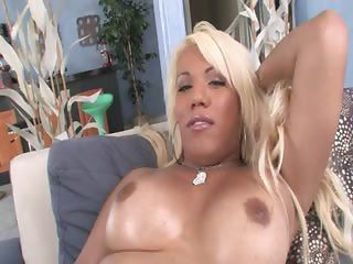 Blonde Beauty With Huge Nipples Riding