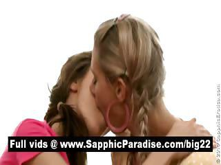 Stunning Lesbos Kissing And Licking Nipples In A Great Three Way Lesbo Orgy