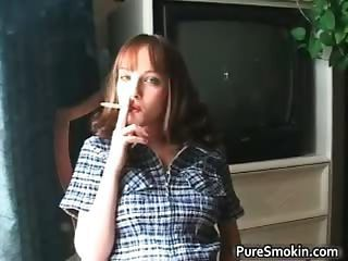 Aamazing Redhead Is Smoking And Showing Part3
