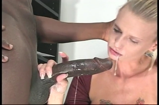 Dark Monster Cock Drilled Sweet Blonde