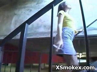 Wild Teen Slut Smoking Fetish