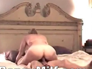 Milf Riding On Top And Getting Thick Cum...