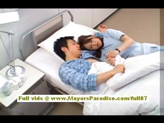 Akiho Yoshizawa Amateur Asian Nurse Blow...