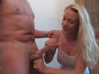 German Mature Handjob
