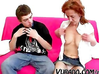 Mature Mom Old and Young Redhead SaggyTits Stripper