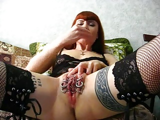 Clit Close up Goth Piercing