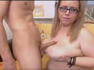 Big Tits Chubby Girlfriend Glasses Natural SaggyTits Tits job Webcam